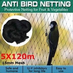 5x120m bardzo mocne siatki przeciw ptakom siatki chronią drzewo netto ogród przydział wielokrotnego użytku trwała ochrona przed ptakami jelenie w Siatka ogrodowa od Dom i ogród na