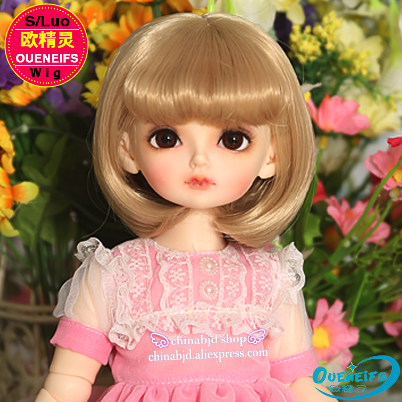 Wig For BJD Doll free shipping bjd wig size 9-10 inch 1/3 high-temperature wig girl short bjd sd doll Wig in beauty with bangs lumiparty 100pcs double sided blank kraft paper business cards word card message card diy gift card 30