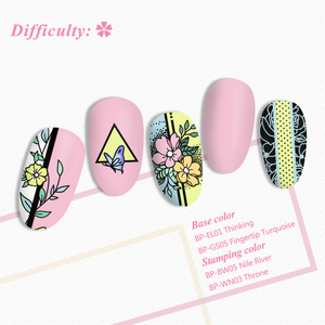 Image 5 - BORN PRETTY Square Nail Stamping Plates Roses Flowers Stainless Steel Template Nail Art Image Stencil Flower Tango DIY Tools