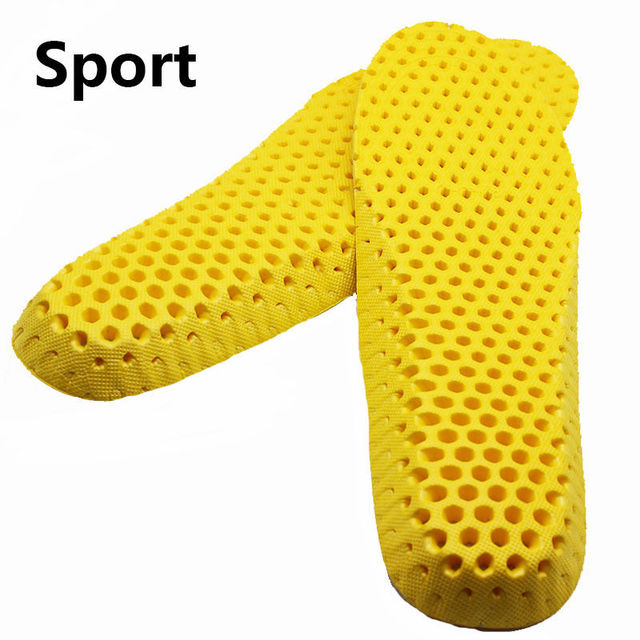 1pair Stretch Breathable Deodorant Shoe Running Cushion Insoles Pad Insert 35-40 3