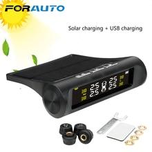 Forauto Auto Tpms Bandenspanningscontrolesysteem Digitale Lcd scherm Auto Alarmsystemen Tyre Pressure Solar Power