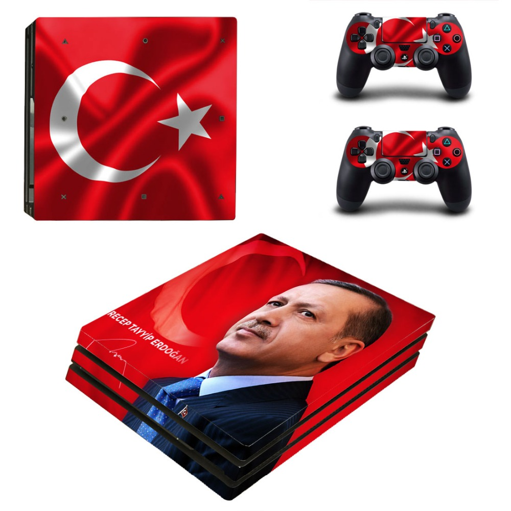 Turkey National Flag PS4 Pro Skin Sticker Decal For Sony PS4 Pro Playstation 4 PS 4 Console and Controllers Stickers