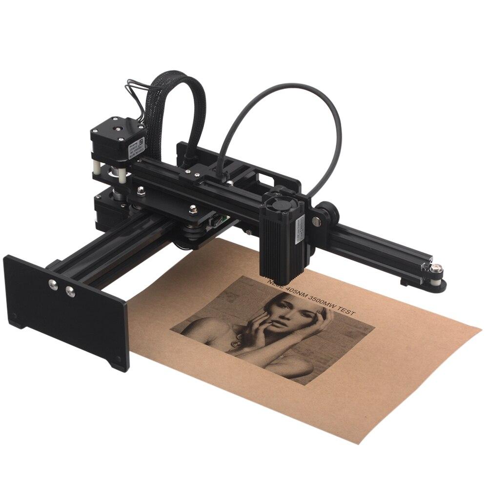 Portable CNC 3.5 W/7 W bureau Laser graveur sculpture Machine bricolage Laser Cutter imprimante bois routeur Kit avec lunettes de protection