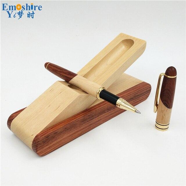 Emoshire Vulpen Beste Kwaliteit Potlood Gevallen Luxe Balpennen Klassieke Wieden Geschenken voor Man Hout Briefpapier P220