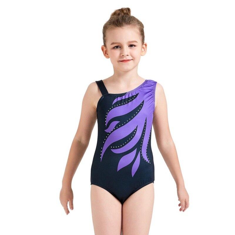 Girls Ballet Leotards Gymnastics Dress Athletic Dancer Dress Ballet Gym Leotards Acrobatics For Kids Dance Wear