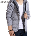 Men's Autumn Winter Sweater 2016 New Fashion Casual Thick Warm Hooded Sweaters Cardigan Clothing Blusas Masculinas M-XXL