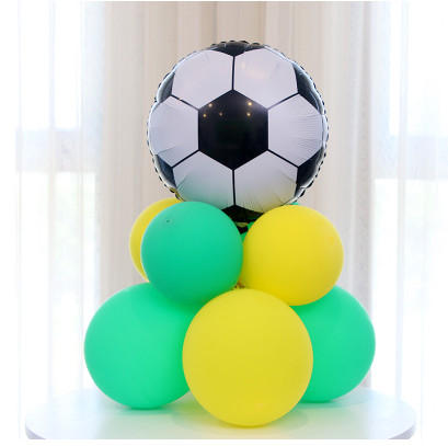 Image 3 - 10pcs Green Football Soccer Theme Party Balloons Black White latex Balloon for Boys Birthday Games Toys Party Decor Supplies-in Ballons & Accessories from Home & Garden