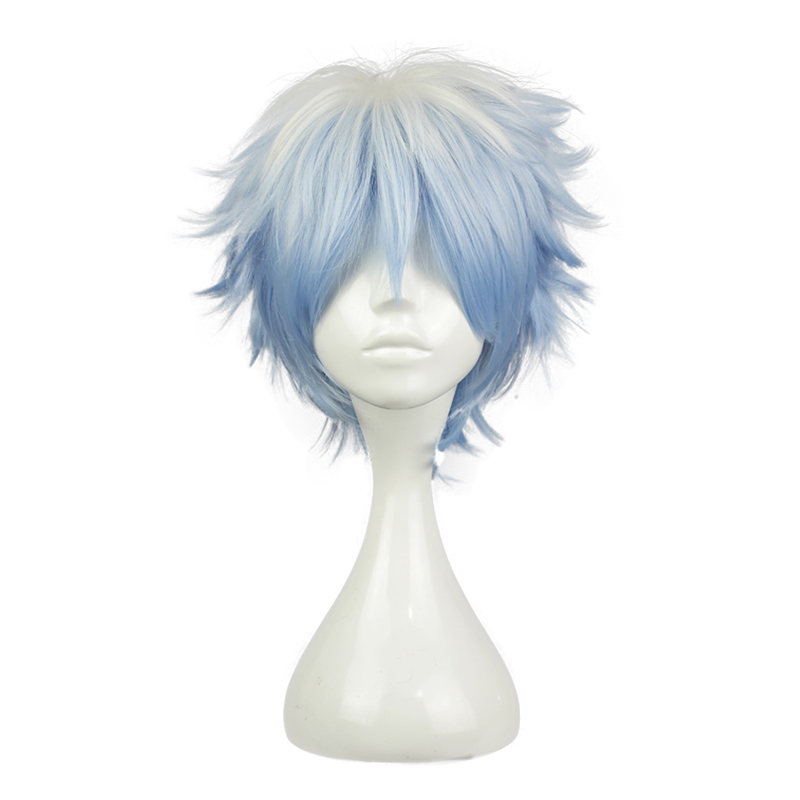 Anime Gintama Sakata Gintoki Wig Cosplay Costume Silver Soul Men & Women Short Hair Halloween Party Wigs