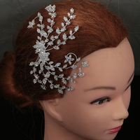 Tiaras And Crowns HADIYANA Creative Leaf Shape Design Elegant Hair Jewelry For Women With Zircon BC4931 Crystal Hair Clip