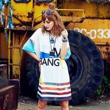 Solo ¡! nunca mujeres verano camiseta vestido manga corta abstracto carta BANG ME imprimir kawaii mujer punk personalidad blanca camiseta