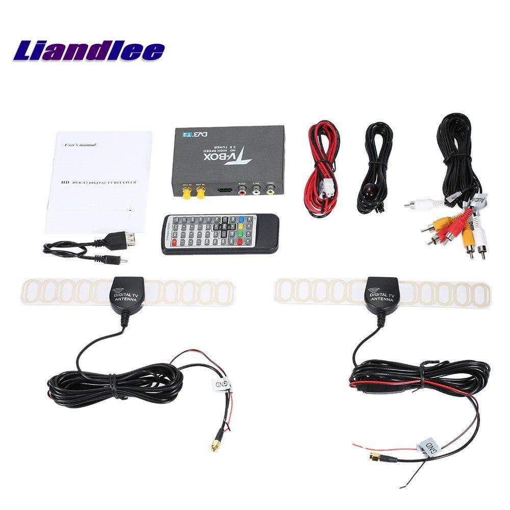 Здесь можно купить  Liandlee 2 Signal Antenna DVB-T2 Car Digital TV Receiver Host Mobile HD TV Turner Box RCA HDMI High Speed / Model DVB-T2-T338  Автомобили и Мотоциклы