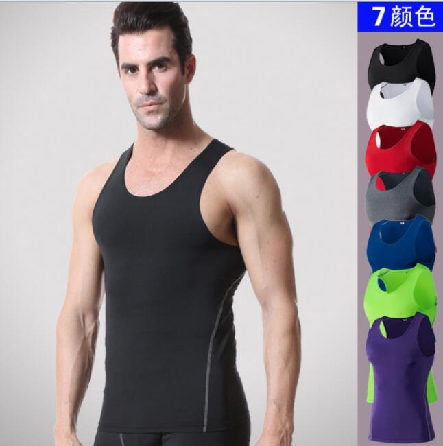 Sports PRO Men Training Body-hugging Vest Basketball Fitness Running  Quick Drying Vest