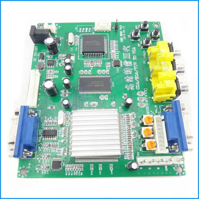 US $12 59 |Arcade Game RGB CGA EGA YUV to VGA HD Video Converter Board VGA  Output for single/double out put -in Coin Operated Games from Sports &