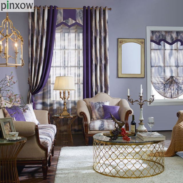 Superbe Purple Curtains For Living Room Modern Curtain For Bedroom Custom Made Home  Decor Window Panel Luxury