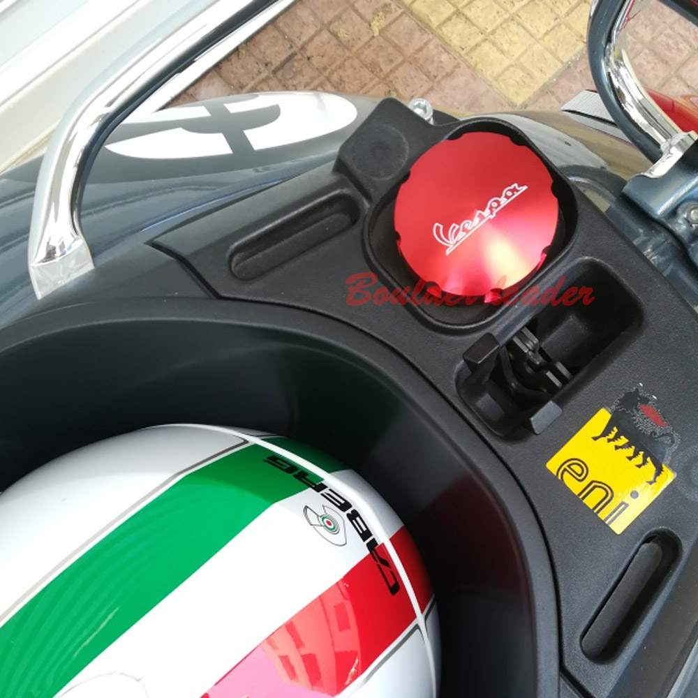 Image 5 - Paliwo gazowe wlew zbiornika oleju pokrywa dla Piaggio skuter VESPA GTS GTV LX Primavera Sprint 125 150 250 300 300ieOsłony i ozdobne kształtki   -