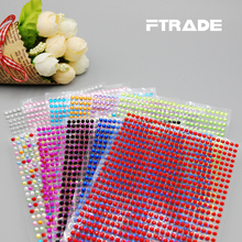 Wholesale Sticker Per set 11 pieces 3mm 750 pcs DIY Decal Mobile/pc Art Crystal Diamond Bling Rhinestone Self Adhesive Stickers crystals rhinestones car decor decal styling accessories mobile art diamond self adhesive sticker flat acrylic drilling stickers