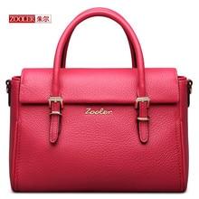 ZOOLER Echtes leder damentaschen hight qualität rindsleder damen handtaschen luxus marke fashion schultertasche