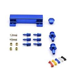 Гоночный алюминиевый турбинный регулировочный клапан Boost ВАКУУМНЫЙ впускной коллектор 6 портов 1/8 NPT FS-TW01