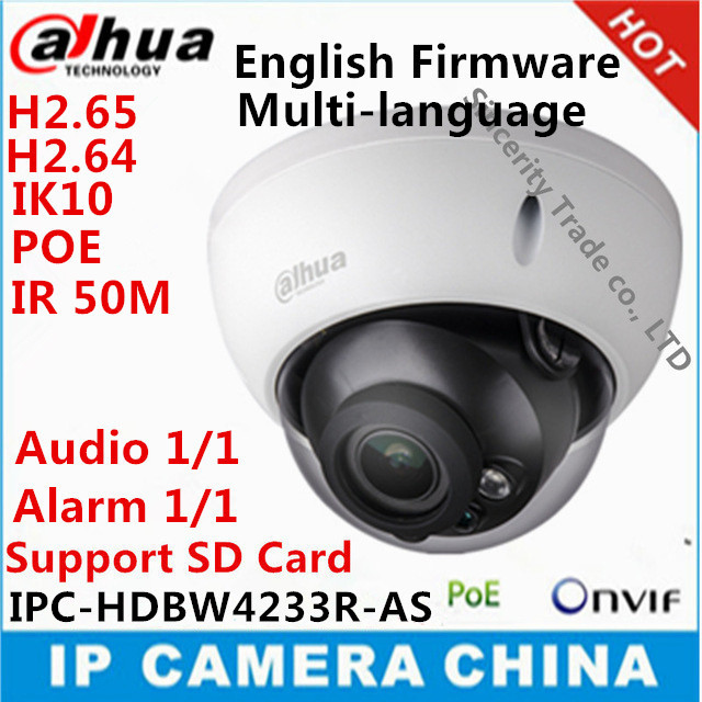 imágenes para Dahua IPC-HDBW4233R-AS estelar cámara 2MP IP67 IK10 IR50M ranura SD de audio y la interfaz de alarma HDBW4233R-AS con poe
