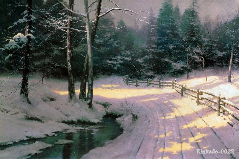 prints of thomas kinkade oil painting
