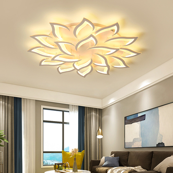 New petal Chandelier For Living Room Bedroom Home lustre para sala AC85-265V Modern LED Ceiling Chandelier Lamp Fixtures lustre modern led chandelier lighting transparent glass bubble ball chandeliers for living room lustre de cristal lustre para sala lamp