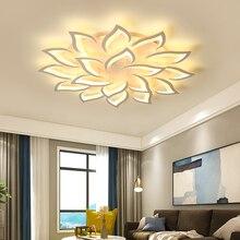 새로운 꽃잎 샹들리에 거실 침실 홈 lustre 파라 sala AC85 265V 현대 LED 천장 샹들리에 램프 비품 광택