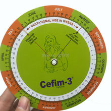 Gestation Calculator baby born wheel pregnancy goniometer expected date of birth ruler 10 pcs /lot!(China)