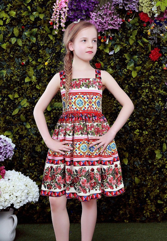 W.L.MONSOON Princess Dress Vestido Infantil 2017 Summer Girls Party wedding Dress Children 'Corretto Con Rose' Dress Kids Cloth вечернее платье mermaid dress vestido noiva 2015 w006 elie saab evening dress