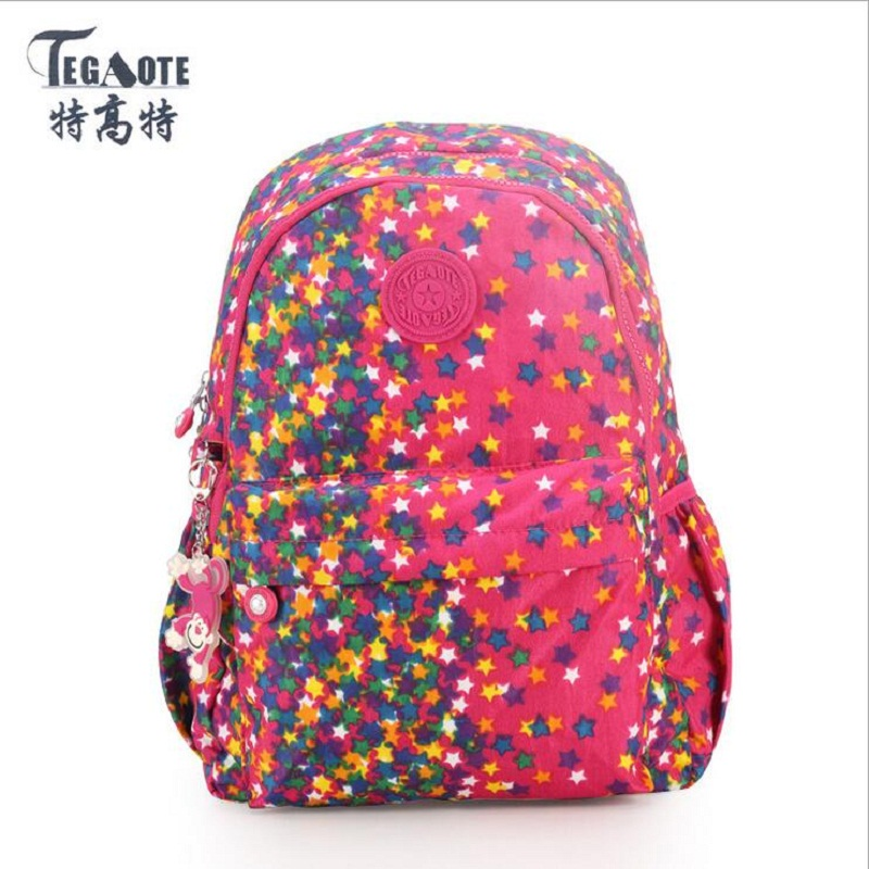 TEGAOTE small Backpack for Teenage Girl Feminine Backpack Casual Kipled Nylon Backpacks Women Waterproof Schoolbag Sac A Dos bag sunborls brand women big backpack for teenage girl casual back bag schoolbag lady string backpacks female rucksack bagpack