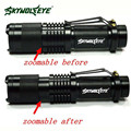 High Quality Super Bright   XML T6 Tactical Zoomable 5000 Lumen LED Flashlight Torch Lamp led taschenlampe 5000 lm