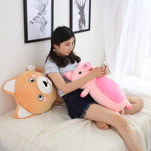 Very Good Hot Plush Animal Pillow Toys Soft Baby Pillow Stuffed Sofa Cushion Plush Unicorn Cat Dog Pig Dolls Cute Children Gifts(China)