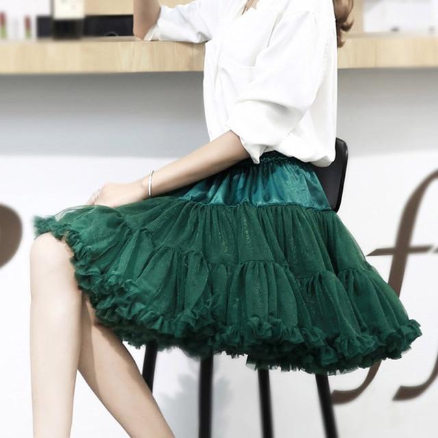 E JUE SHUNG Ball Gown Underskirt Swing Short Dress Petticoat Lolita Cosplay Petticoat Ballet Tutu Skirt Rockabilly Crinoline 2