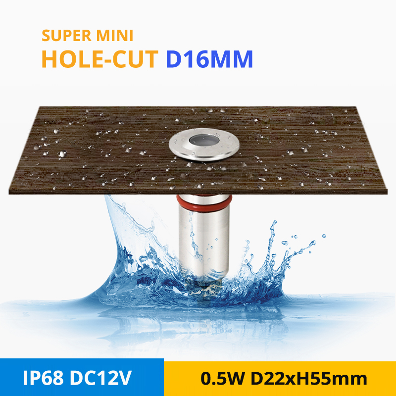Lights & Lighting Led Lamps Devoted 4pcs/lot Super Mini 0.5w/1w Ip68 Underwater Light Dc12v Outdoor Underground Lamp Swimming Pool Led Spot Lighting Hole-cut D16mm With The Most Up-To-Date Equipment And Techniques