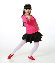 110-160cm gift 2PCS rumba latin dance dress tango samba cha-cha blue pink rosy competition professional girl child dress costume