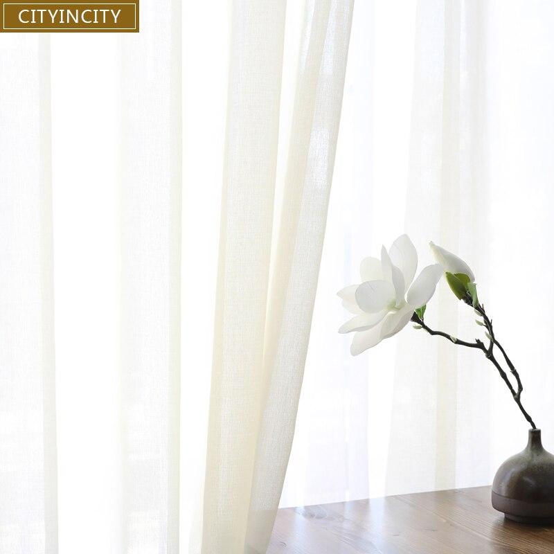 Cityincity Weiche Weiss Tull Vorhange Fur Wohnzimmer Japan Stil Voile