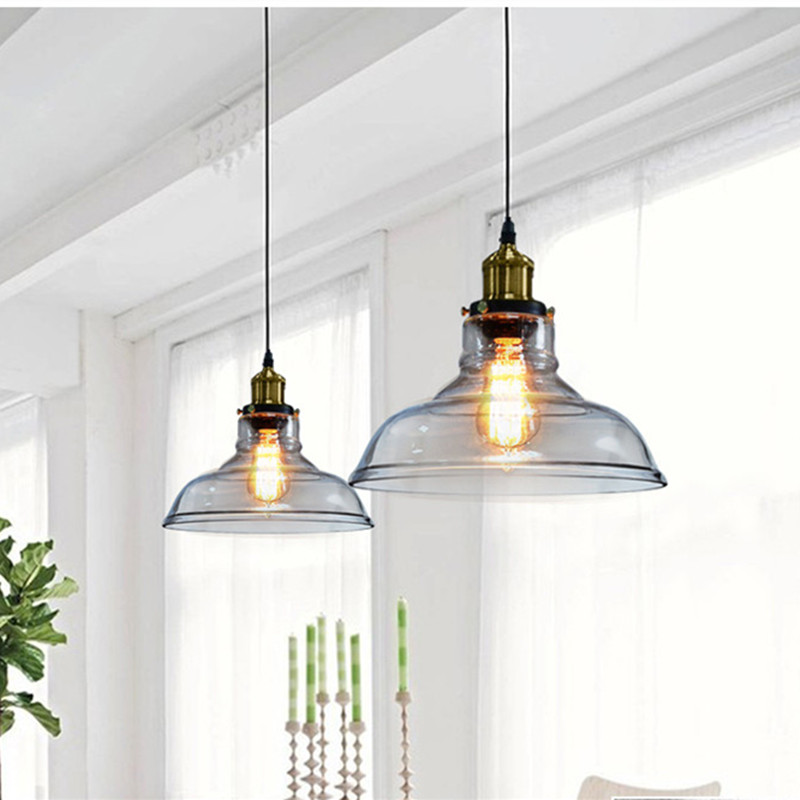 Vintage Pendant Light Glass Pendant Lamp Kitchen Table Hanging lamp Home Lighting luminaria Loft Industrial Light Fixtures new loft vintage iron pendant light industrial lighting glass guard design bar cafe restaurant cage pendant lamp hanging lights