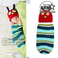 Hot Animals Infant Insert Costume Newborn Hat Butterfly Kids Clothes Sets Snail Baby Photography Prop Crochet Clothes