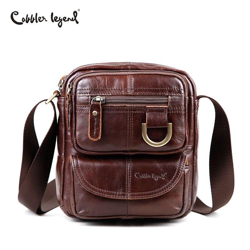 Cobbler Legend Messenger sac hommes sacs à bandoulière en cuir véritable sacs à bandoulière pour hommes sacs rétro Zipper hommes sacs à main d'affaires