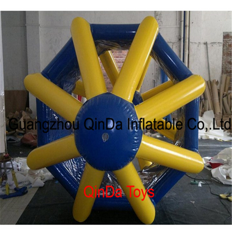 2017 Hot sale inflatable water pool toys 2.8m Inflatable water roller, Inflatable roller wheel with free air pump outdoor commercial mini water park inflatable water slide with pool with air blower