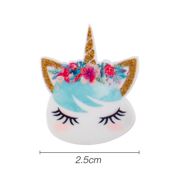 10pcs/lot Personalized Resin Hornhorse Cute Cartoon DIY Accessories For Refrigerator Home Decoration Handmade Crafts 3