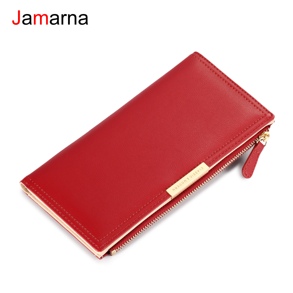 Jamarna Wallet Female PU Leather Wallet Female Pattern Bifold Fashion Women Wallets Zipper Phone Card Holder Coin Purse Classic