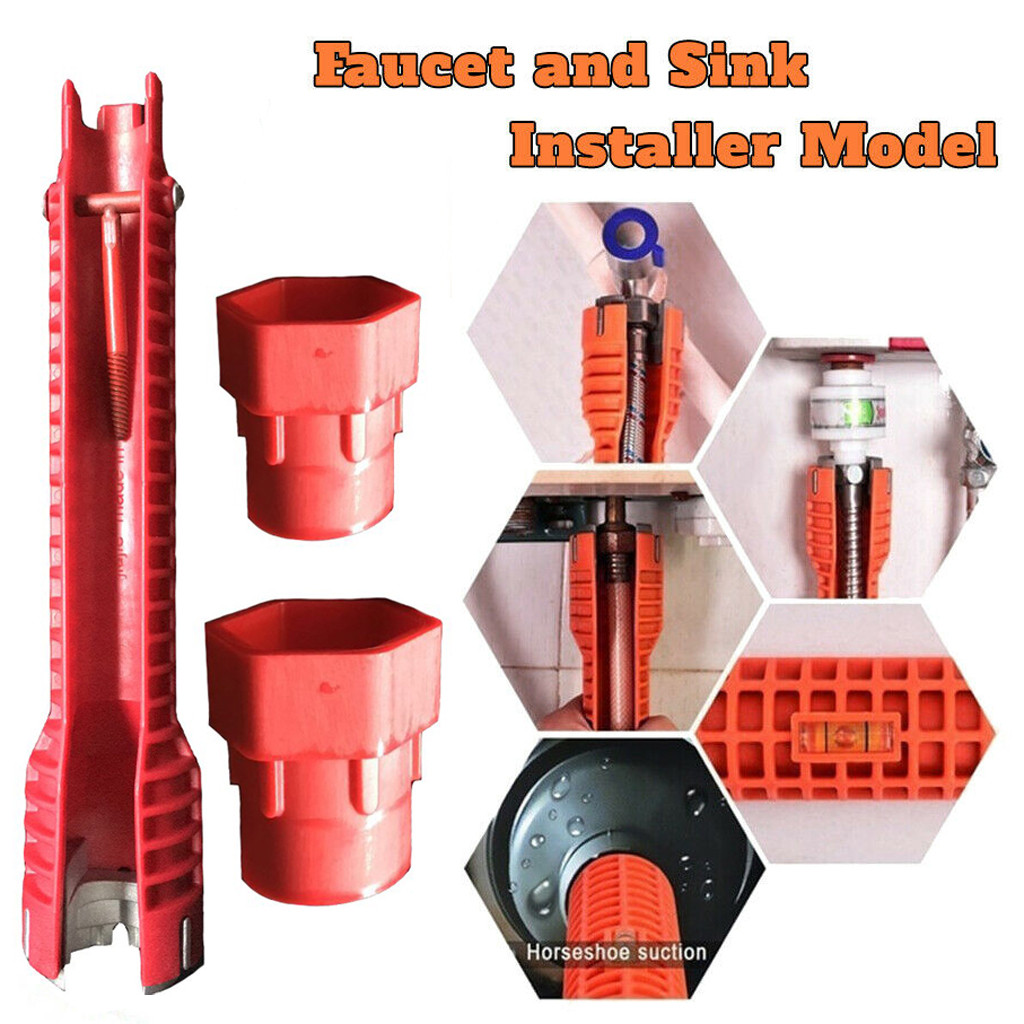 2019 New High Quality Multifunctional Faucet And Sink Installer Tool Model 2019 Under Plumbing Home Decorative Tools