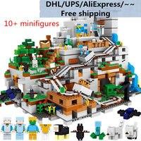 Мир шахты DIY Building Block Набор фигурок Совместимость Legos Minecraft город кирпичи развивающие игрушечные лошадки для детей