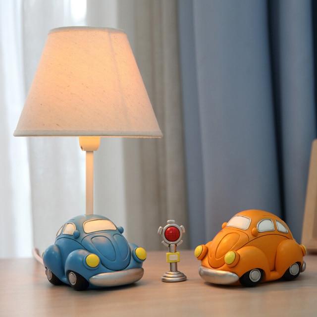 Прекрасный Автомобиль Модели Дети Настольная Лампа E14 AC 110 В-220 В Детей номер Светодиодные Настольная Лампа Настольная Лампа Led Переключатель Прикроватная лампы