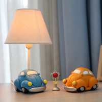 Lovely Car Model Kids Table Lamp E14 AC 110V 220V Children Room Led Desk Lamp Reading Lamp Led Switch Button Bedside Lamp