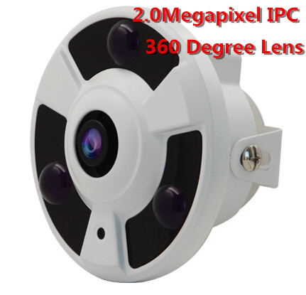 HD 1080P IP Camera Wide Angle 360Degree FishEye 2MP 1.44MM Lens Camera CCTV Indoor ONVIF 3 ARRAY IR LED купить