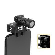CoMica CVM-VS09TC кардиоидный смартфон микрофон для телефона с интерфейсом type-C супер запись 180 Вращение мониторинг в реальном времени