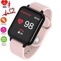 Frauen Smart Uhr Blutdruck Schlaf Monitor Armbanduhr Calorie Pedometer Uhr Telefon männer Uhr Smartwatch Für Android IOS-in Damenuhren aus Uhren bei