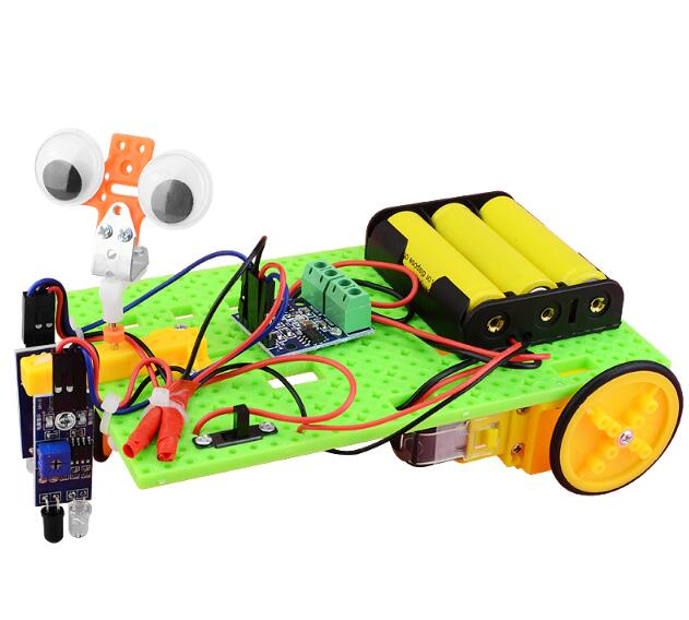 DIY Intelligent Tracking Line Car Suit Motor Electronic Assembly Smart Patrol Smart Automobile Parts