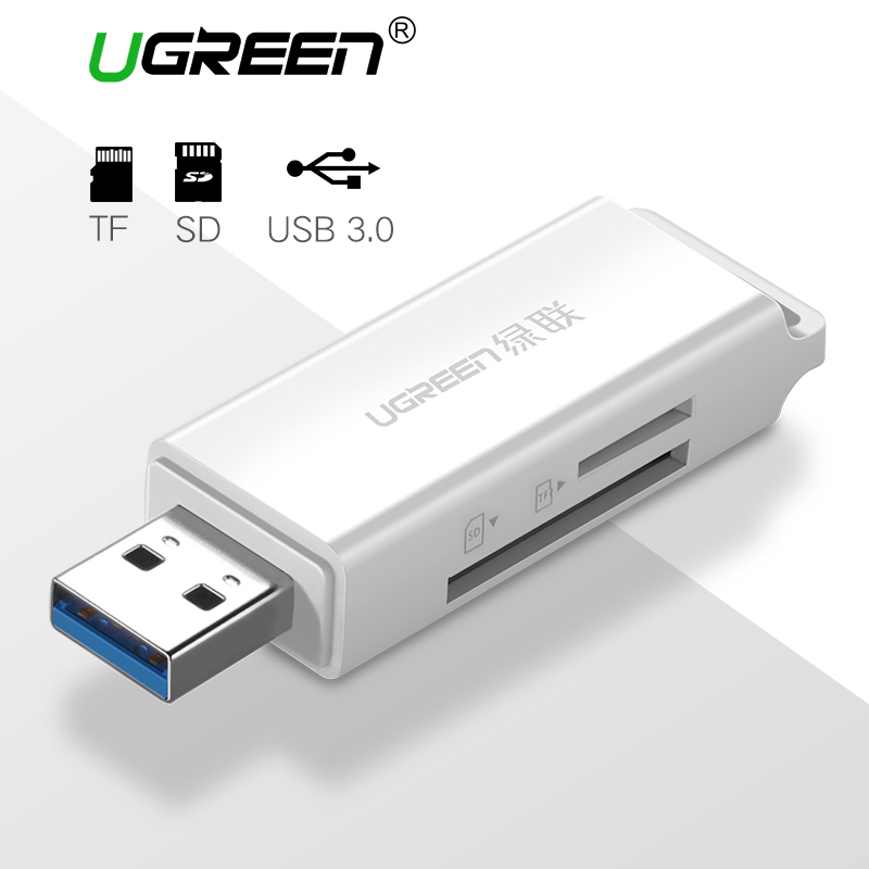 Ugreen USB 3.0 Card Reader SD Micro SD Mini Smart Card Reader for MacBook Max 256GB Memory Card Reader All in One USB SD Adapter